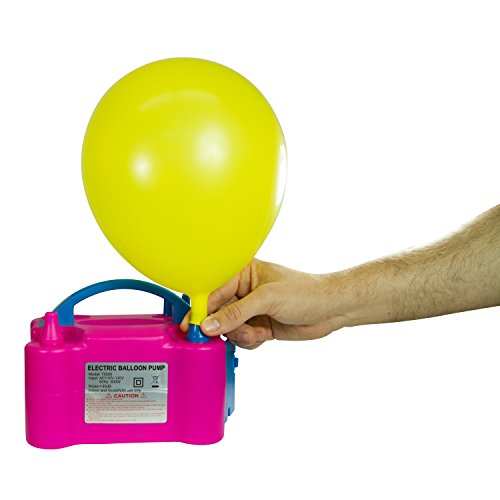 Houseables Balloon Inflator, Electric Pump, Air Filler Add On, Pink, 8x6x5 Inch, 110V, 600 Watts, Portable, Ballon Sizer, Globos Cracker, Arch Kit, Calibrator Machine, Blower Tool for Column Stand -