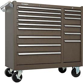 kennedy-manufacturing-315xb-39-15-drawer-industrial-double-bank-roller-cabinet-tan-brown-wrinkle