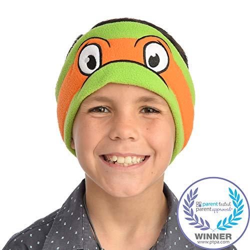 Teenage Mutant Ninja Turtles Kids Headphones by CozyPhones - Volume Limited with Ultra-Thin Speakers & Soft Fleece Headband - Perfect Childrens Earphones for School, Home and Travel – Michaelangelo