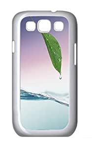 Samsung Galaxy S3 Case and Cover- Wet Leaf Over Water Custom PC Case for Samsung Galaxy S3 / SIII / I9300 White