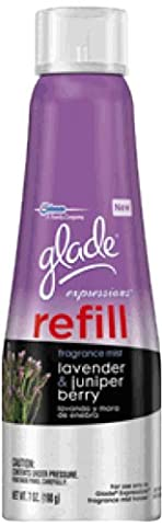 glade Expressions Fragrance Mist Refill, Lavender and Juniper Berry, 7 Ounce (Pack of 6) (Italian Air Freshener)