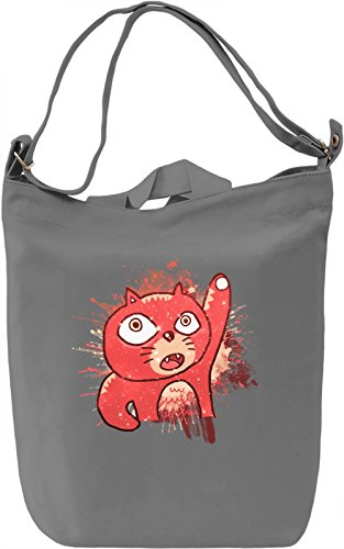 Crazy Cat Borsa Giornaliera Canvas Canvas Day Bag| 100% Premium Cotton Canvas| DTG Printing|