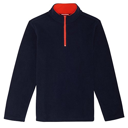 French Toast Boys' Big Long Sleeve Microfleece, Navy, L (10/12)