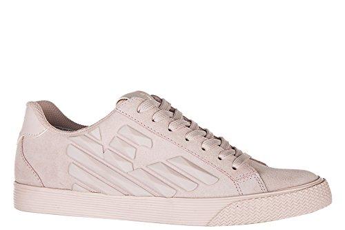 Emporio Armani EA7 Damenschuhe Turnschuhe Damen Wildleder Schuhe Sneakers pride