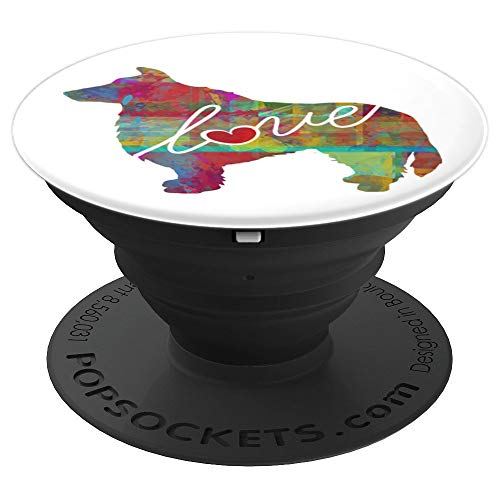 heepdog Love Colorful Watercolor Style - PopSockets Grip and Stand for Phones and Tablets ()