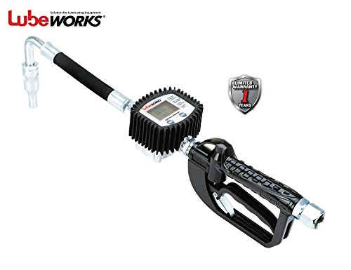 LUBEWORKS Heavy Duty Air Operated Oil Transfer Pump and Control Valve (Oil Control Valve Meter (Digital Dispensing)