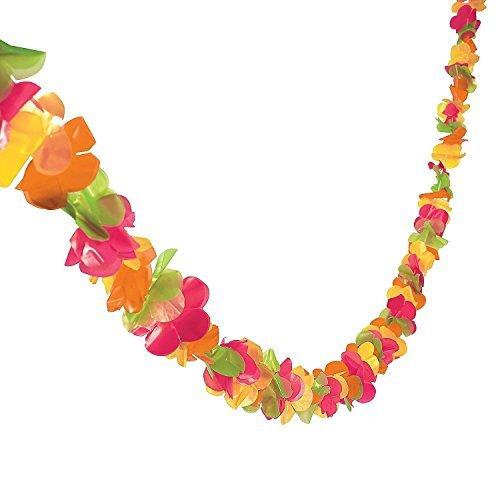 Luau Garland (GIFTEXPRESS 100 feet Plastic Lei Garland/ Hawaiian floral border/ Luau Party Flower Garland/Hawaiian Party Garland/Luau Party Decoration)