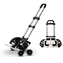 HCC& Shopping Cart Dolly Collapsible Portable Aluminum Alloy Trolley Climb the stairs Rolling Swivel Wheels Adjustable Handle Grocery Car