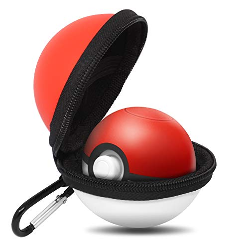 - Portable Carrying Case for Nintendo Poke Ball Plus Switch Controller, Accessory for Pokémon Lets Go Pikachu Eevee Game for Nintendo Switch, Red & White