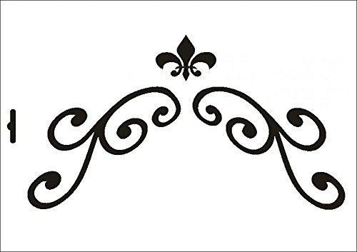 UMR-Design W-456 Garnments Textil- / wallstencil Size A4