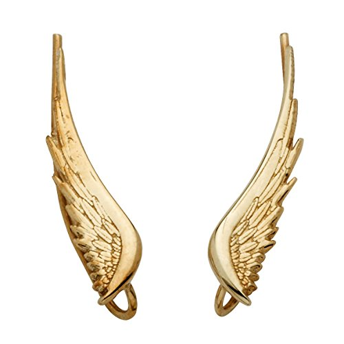 10k Yellow Gold Angel Wing Ear Pins 10k Yellow Gold Pin