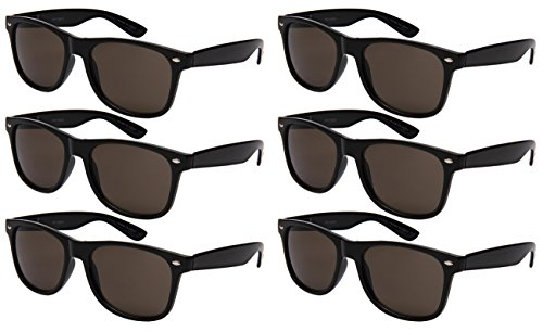 Edge I-Wear 6 Pack Party Sunglasses with Spring Hinge - Low Price Sunglass