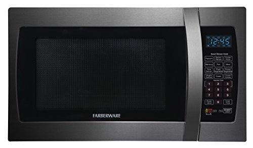 Farberware FMO13AHTBSE 1100-Watt Microwave Oven with with Smart Sensor Cooking, 1.3-Cubic-Foot (Emerson Stainless Steel Microwave 1-3 Cu Ft)