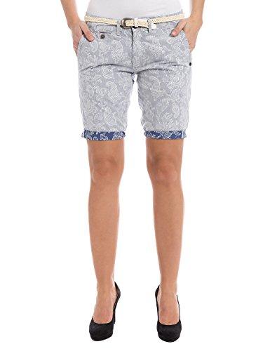 Pantaloncini Belt Reverse Paisley Timezone Blue Short Chino Bleu Shorts incl Donna 3901 Alannatz PvYXqwY4xU