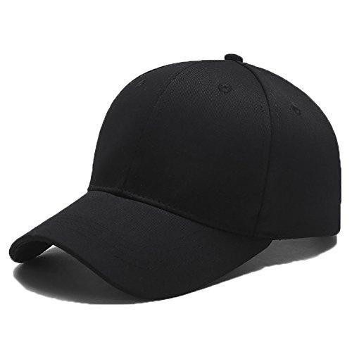 Yidarton Unisex Classic Cotton Dad Hat Adjustable Plain Baseball Cap, Polo Style Low Profile (Black)