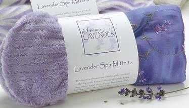 Sonoma Lavender - Lilac Embroidered Spa Mittens