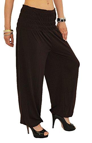 Pantalons Marron Pump Sarouel by Femme Harem pour Pantalon pour Yoga tex de Dames Femme S01 Pantalon Pantalon w8qHFASq