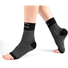 Plantar Fasciitis Ankle Brace Compression Socks with Arch Support for Heel and Foot Pain Relief (1 Pair) for Men and Women. Relieves Achilles Tendonitis, Heel Spur and Joint Pain