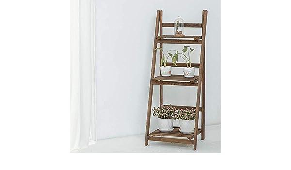 Bzwj Estantes de estanterías Estanterías Estantería multifuncional en forma de escalera Estante para flores Estantería Estanterías de almacenamiento de estanterías: Amazon.es: Bricolaje y herramientas