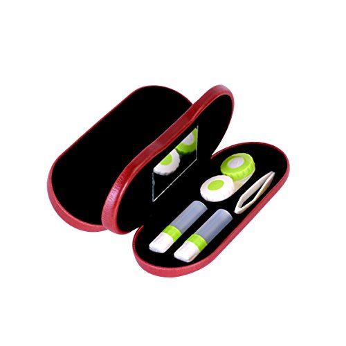 ROSENICE Portable 2-in-1 Eyeglass and Contact Lens Hard Case for Home Travel Kit - Eyeglass Repair Scratch Lense