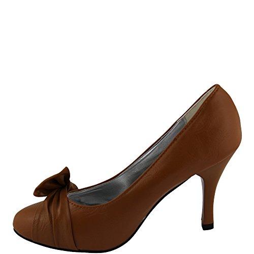 Unbekannt - Zapatos de vestir de Material Sintético para mujer 36 marrón