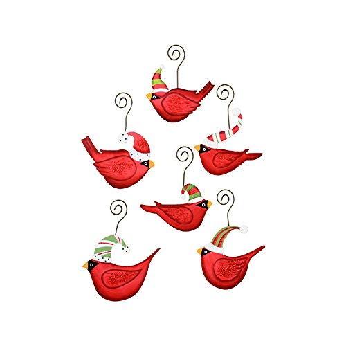 The Round Top Collection Ho Ho Birds in Hats Ornaments- Assorted 6 - Metal