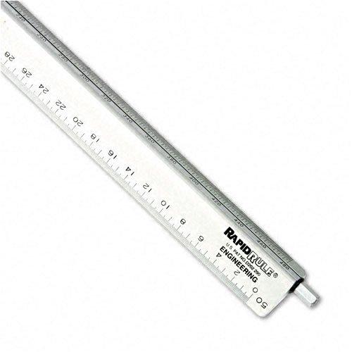 Chartpak : Adjustable Triangular Scale Aluminum Engineers Ruler, 12