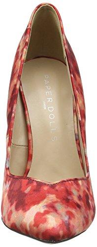 De Con Para Mujer Paper Cerrada Blossom Tacón Dolls Rojo Zapatos Punta C66qOBtw