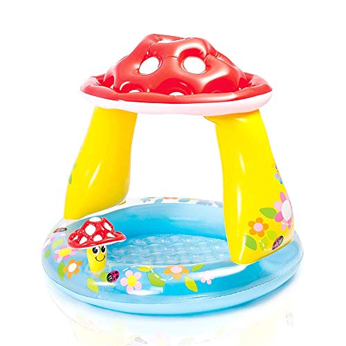 Kids Inflatable Pool. This Cool Small Portable Kiddie Blow Up Above Ground Paddling, Swimming Pool is Great for Toddlers, Children, Baby to Have Outdoor Water Fun with Floats, Toys