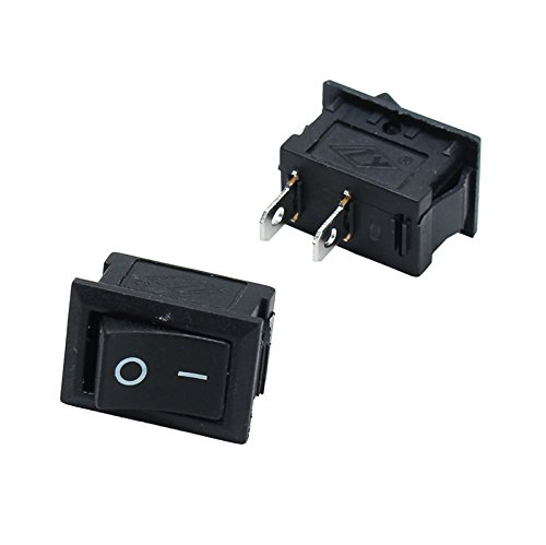 1PCS NEW Mini Round 3 Pin SPDT ON-OFF Rocker Switch Snap-in Black Hot Sale YH