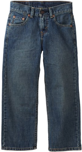 Levi's Boys 8-20 550 Relaxed Fit Jean , CLEAN CROSSHATCH, 12 Regular Levis Relaxed Fit Tapered Leg