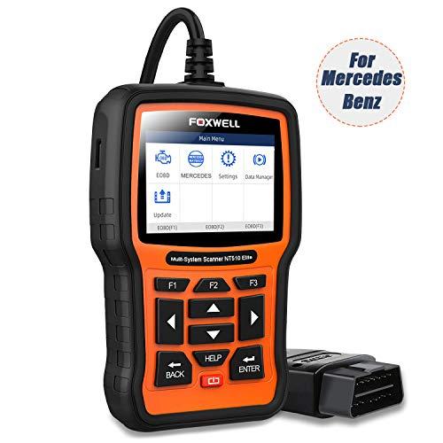 FOXWELL NT510 Elite for Mercedes Benz Full System Bi-Directional Scan Tool ABS Bleeding TPMS DPF Oil Reset OBD2 Car Diagnostic Scanner(NT510 Enhanced 2019 Version)