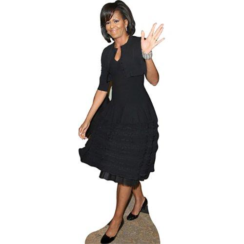 Wet Paint Printing + Design H25903 Michelle Obama Black Dress Cardboard Cutout Standup