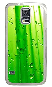 Samsung Galaxy S5 Cases & Covers - Abstract Green Water Droplets PC Custom Soft Case Cover Protector for Samsung Galaxy S5 - Transparent