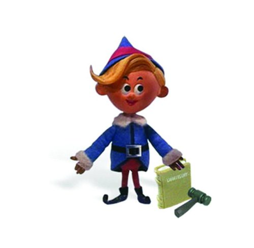 Rudolph the Red Nosed Reindeer Deluxe Poseable Hermey Action Figure (Poseable Rudolph Reindeer)