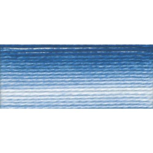otton Thread Balls, Variegated Cornflower Blue, Size 8 ()