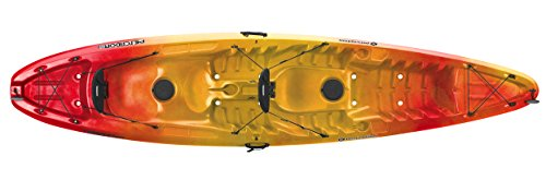 Perception Pescador 13.0 T Tandem Kayak, Red/Yellow