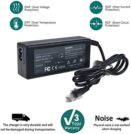 SLLEA 65W AC Adapter Charger for HP Envy TPN-C126 TPNC126 Laptop Notebook PC Power Supply Cord