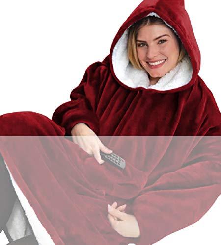 Tuopuda Hoodie Deken Sweatshirt met zak Vrouwen Oversized Sherpa Hoodie Unisex Super Zachte Warme Deken Hoodie Fleece…