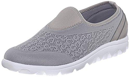 Propet Womens Travelactiv Slip-on Shoe E Oxy Pulitore Bundle Argento