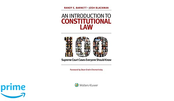 Amazon com: An Introduction to Constitutional Law: 100