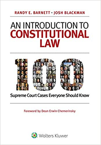Image result for an introduction to constitutional law randy barnett amazon