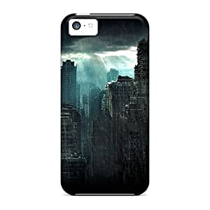 New Style Mialisabblake Hard Case Cover For Iphone 5c- Ruins Town