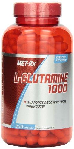 MET-Rx L-Глютамин 1000 мг Капсулы пищевая добавка, 200 Граф
