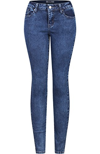 2LUV Women's Stretchy 5 Pocket Skinny Jeans Acid Wash 9 (Cute Movie Outfits)