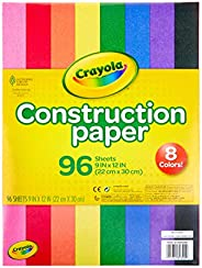 Crayola Construction Paper, School Supplies, 96 ct Assorted Colors, 9""