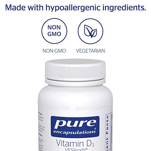 Pure Encapsulations - Vitamin D3 VESIsorb - Hypoallergenic Supplement for Enhanced Vitamin D Absorption - 60 Caplique Capsules by Pure Encapsulations (Image #3)