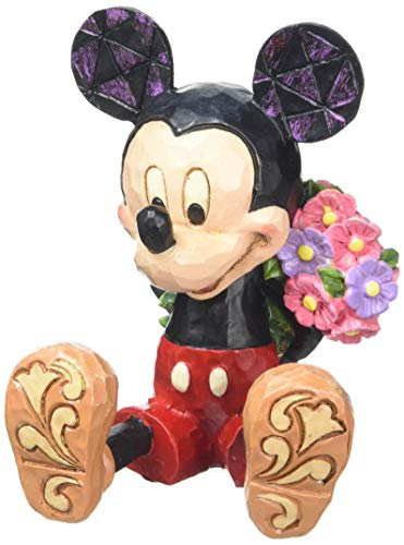 Disney Traditions by Jim Shore Mini Mickey Mouse Personality Pose Stone Resin Figurine, 2.75