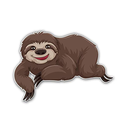 Sloth Brown Sticker Car Motorcycle Bicycle Skateboard Laptop Luggage Decals Bumper Stickers Waterproof