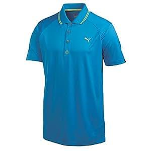 Puma Golf NA Men's Cat Jacquard Polo Shirt, Blue Aster, Small